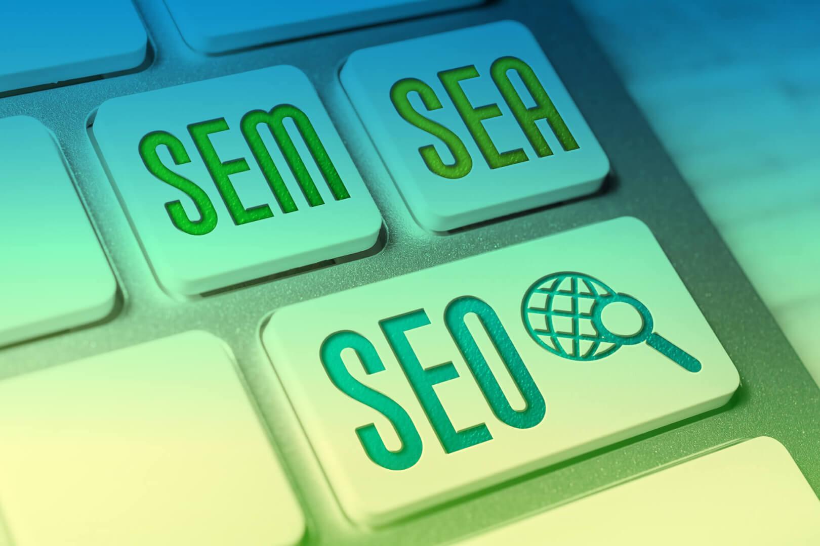 SEM - SEO - SEA - Faktoren des digitalen Marketings